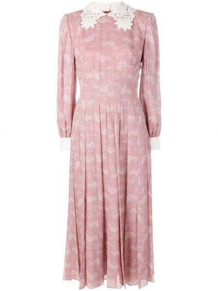 Платье розовое с рукавами Fendi