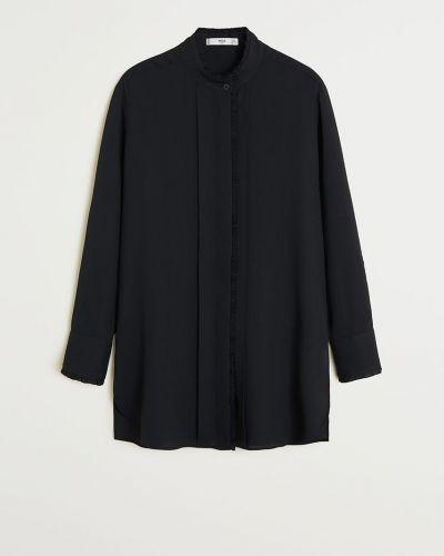 Блузка однотонная с воротником-стойкой Mango