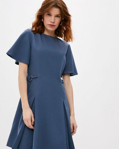 Повседневное синее джинсовое платье Trussardi Jeans