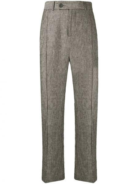 Классические прямые классические брюки с поясом на пуговицах Strateas Carlucci