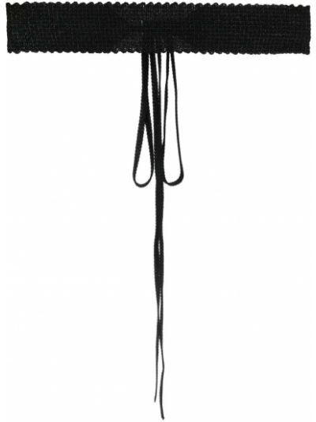 Черный ремень из вискозы Missoni