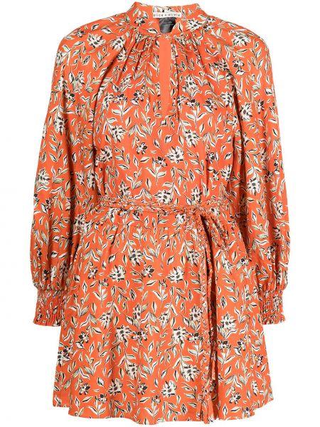 Платье с запахом из вискозы с принтом на шнуровке Alice+olivia