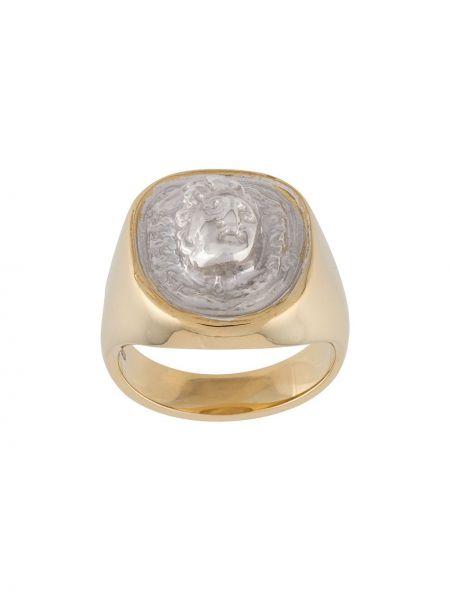Pierścień ze srebra z ozdobnym wykończeniem Victoria Strigini