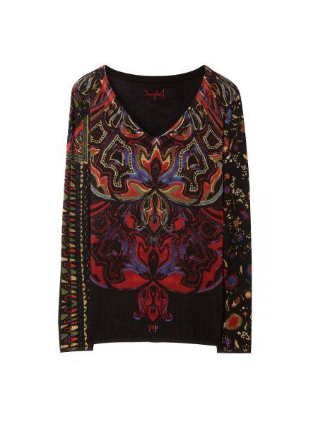 Пуловер с V-образным вырезом из вискозы Desigual