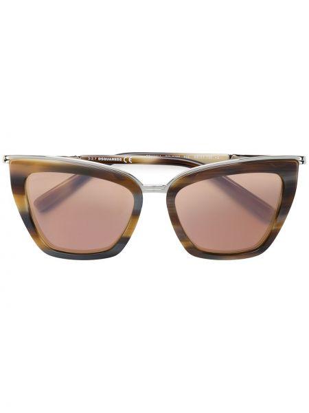 Солнцезащитные очки квадратные металлические хаки Dsquared2 Eyewear