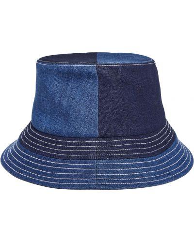 Niebieskie jeansy bawełniane Staud