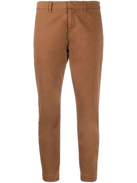 Brązowy bawełna spodni przycięte spodnie z kieszeniami Nili Lotan