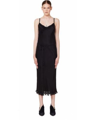 Вечернее платье платье-комбинация на бретелях Ann Demeulemeester
