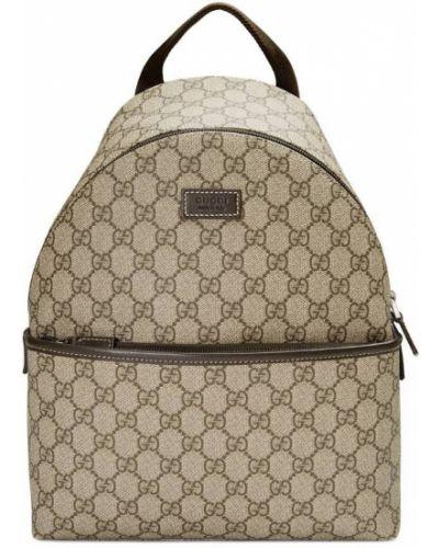 Рюкзак кожаный бежевый Gucci Kids