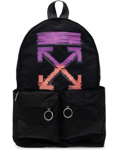 Czarny plecak z haftem Off-white