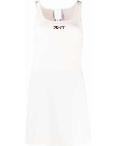Белое платье без рукавов Reebok X Victoria Beckham