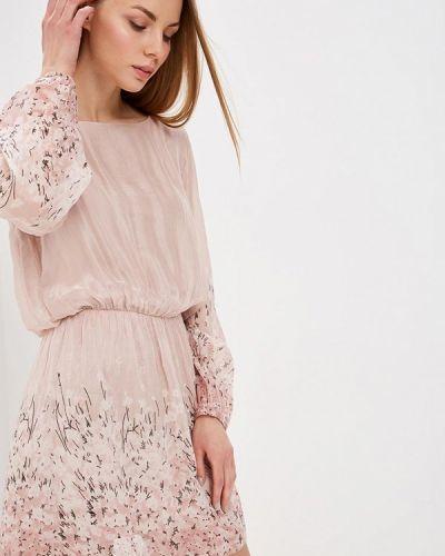 Платье розовое осеннее Almatrichi