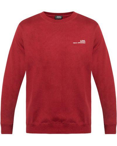 Czerwona bluza dresowa A.p.c.