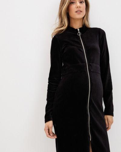 Прямое черное платье для беременных Mama.licious