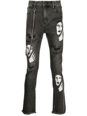 Серые хлопковые джинсы Haculla