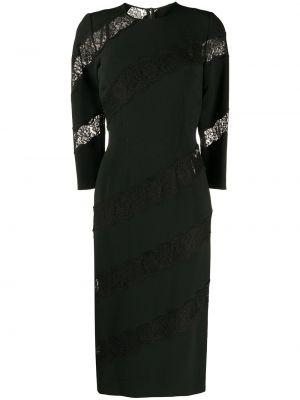 Шелковое кружевное черное платье-футляр Dolce & Gabbana