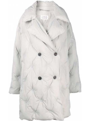 Серое пальто длинное Maison Margiela