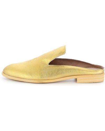 Klapki z zakrytymi palcami - żółte Primamoda