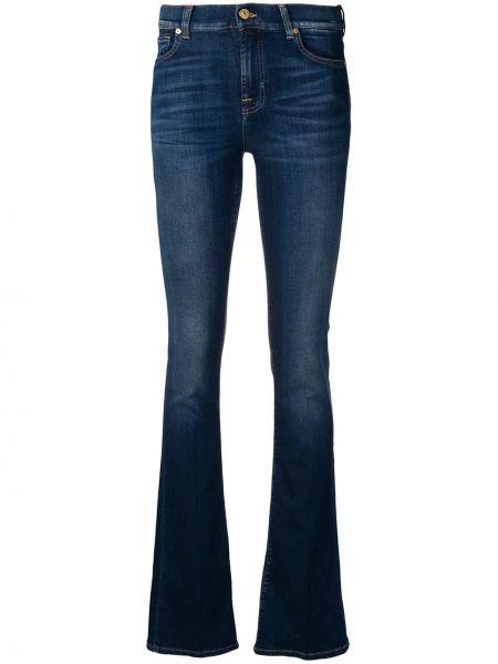 Расклешенные джинсы на пуговицах 7 For All Mankind