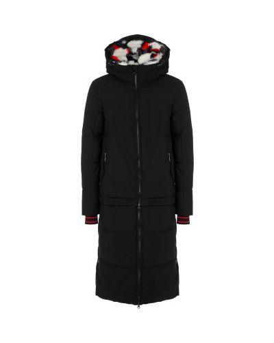 Черная утепленная пуховая длинная куртка Luhta