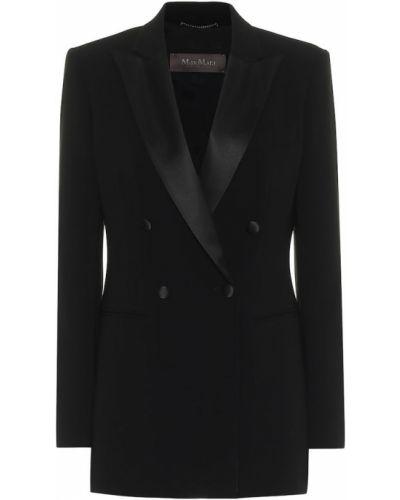 Классический черный классический пиджак Max Mara