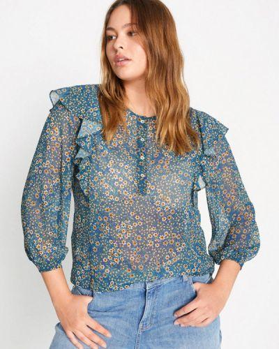Синяя блузка с длинным рукавом с длинными рукавами Violeta By Mango