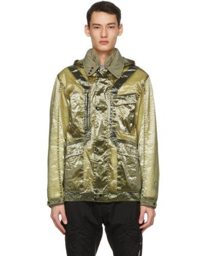 Ватная белая длинная куртка с капюшоном C.p. Company