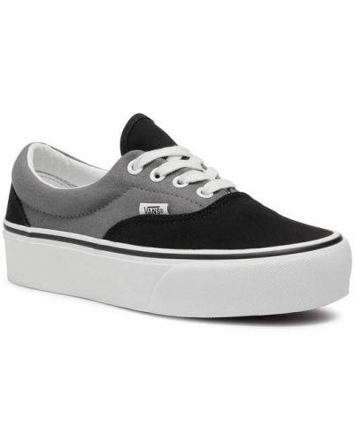 Szary sneakersy na platformie Vans