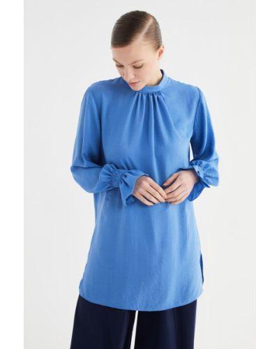 Niebieska tunika Trendyol