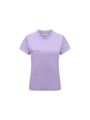 Хлопковая футболка - фиолетовая Pangaia