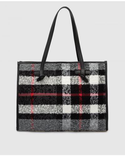 Кожаная сумка шоппер - серая Gianni Chiarini