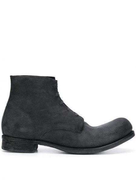 Ażurowe czarne ankle boots skorzane A Diciannoveventitre