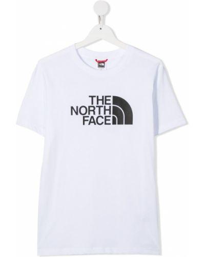 Хлопковая белая футболка с короткими рукавами с круглым вырезом The North Face Kids