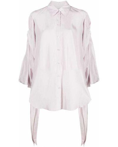 Розовая классическая рубашка с воротником на пуговицах Nina Ricci