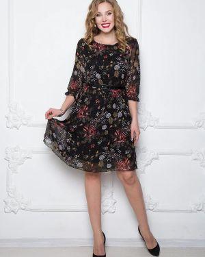 Повседневное с ремешком с рукавами шифоновое летнее платье Diolche