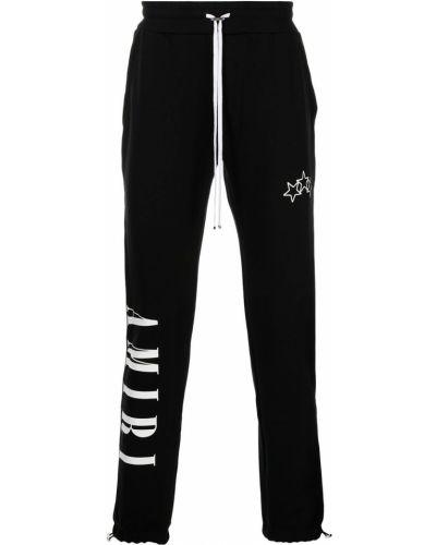 Черные хлопковые брюки Amiri