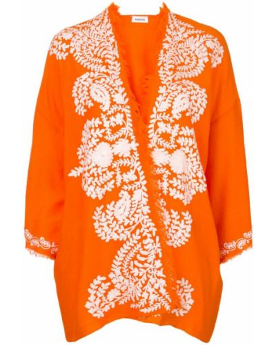 Оранжевый кардиган с бахромой P.a.r.o.s.h.