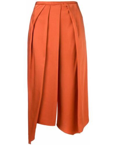 Укороченные брюки с драпировкой желтый Chalayan