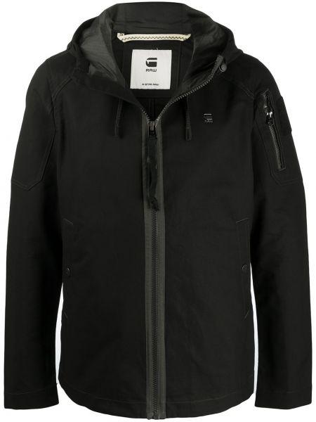 С рукавами черная длинная куртка с капюшоном G-star Raw