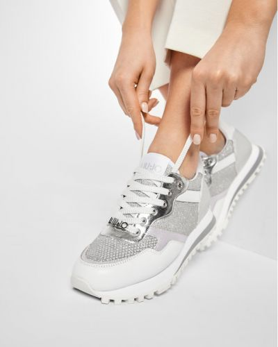 Sneakersy srebrne Liu Jo