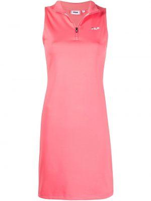 Прямое розовое платье мини без рукавов Fila
