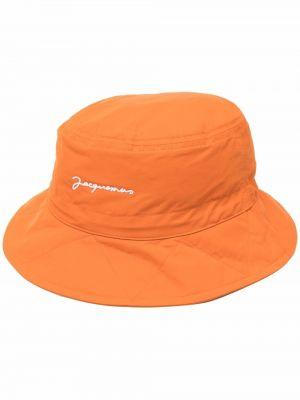 Czapka bawełniana - pomarańczowa Jacquemus