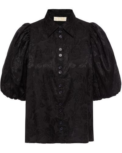 Czarna koszula z wiskozy Bytimo