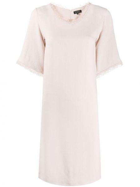 Платье мини с бахромой трапеция Antonelli