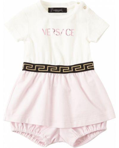 Трикотажное платье - белое Versace