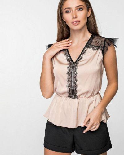 Блузка без рукавов бежевый весенний Itelle