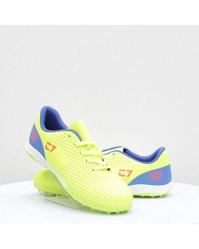 Желтые кожаные кроссовки среднего размера Caroc