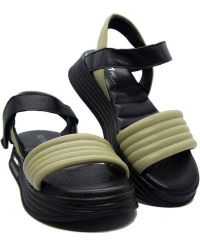 Кожаные сандалии - мятные Trio Trend