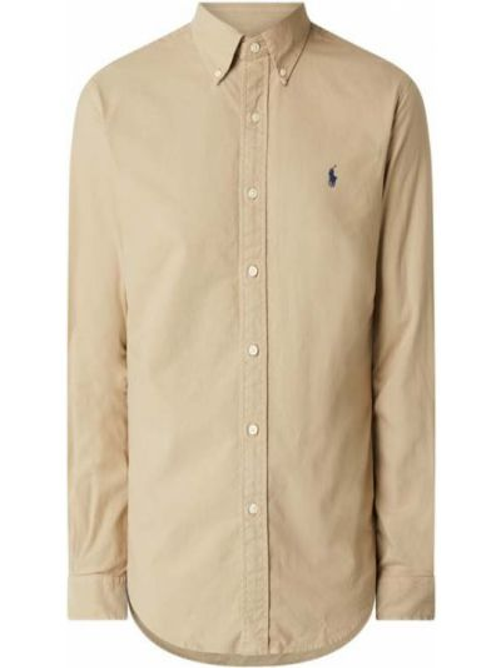 Bawełna beżowy puchaty koszula z mankietami Polo Ralph Lauren