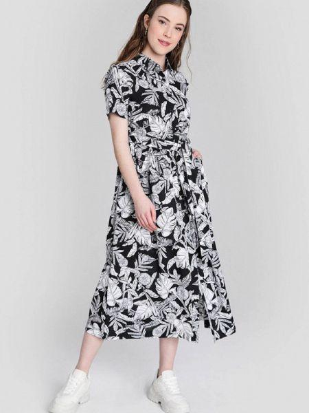 Платье прямое черное Ostin